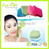 Wholesale silicone soft massage bath brush, SPA silicone face body washing brush