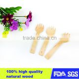 Disposable High quality small wooden spoon and fork