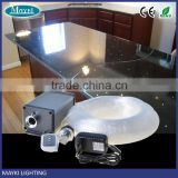 Countertop fiber optic light box with 0.75mm single mode plastic optical fiber cable for light transmitter