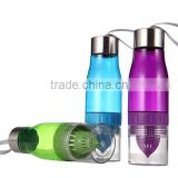 2015 Hot Sale BPA free 22OZ TRITAN infuser water bottle, fruit infuser water bottle, water bottle infuser