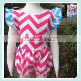 Baby Bubble Back Cross One-Piece Swimsuit Girls Skirt Suits Climb Clothing Boxer Chevron Romper Swimsuit