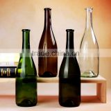 Hot selling 700ml Clear Amber Green Dark-Green Colored Glass Wine Bottles Empty Glass Bottles With Cork For Beverage