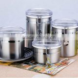 stainless steel storage can/cookie jar/bread boxes/airtight jar/airtight canister