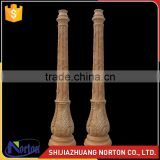 hand carving marble garden lamp post NTMF-C211S
