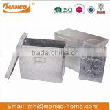 Rectangular Galvanized Metal Paper Document File Box