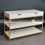 rectangle white modern wood coffee table set with high quality, console table