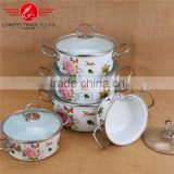 High Quality Printing Gift Promotion Hot Item Enamel/ Ceramic Casserole Pot /Cookware Set
