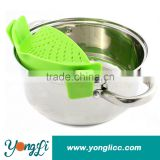 Best for Straining Pasta,Vegetables, Grease, Rice & Fruits Snap'n Silicone Pot Strainer