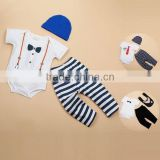 romper set with pant and hat short sleeve bamboo baby clothes