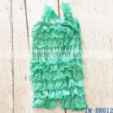 Bulk Wholesale Infant Clothing Trendy Newborn Baby Girls Green Lace Ruffle Petti Rompers IM-BR012