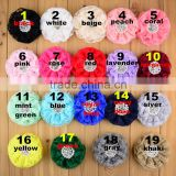 19 color Baby Girls' Hair Accessories lace with pearl DIY Rosette Flowers with Clips Kids Boutique Hair Flowers