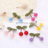 Felt Mini Berry Hair Clips Baby Pom Pom Hair Clip Pastel Baby Barrettes For Baby Hair Accessory