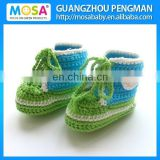 2014 Fashion Crochet Green and Blue Cotton Boots For Boys and Girls