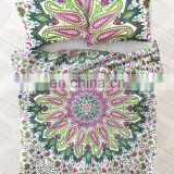 Hippie Indian Mandala Duvet Cover Reversible Bedding Cotton Doona Cover With Two Pillow Cover Decor