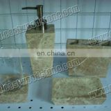 tan marble rectangle natural stone soap dish