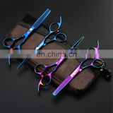 wholesale barber scissors -hot sell KASHO rainbow hair cutting scissors high quality