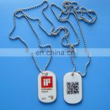 customalized personalized aluminum dog tag with printing QR code