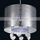 Customized modern chandeliers led ceiling light victorian lampshades