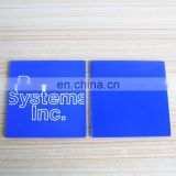 custom 2d soft PVC silicone rubber square cup mat