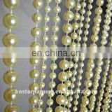 3 feet x 6 feet Ivory Faux Pearl Beaded Curtain