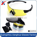Interchangeable 5 lens full set UV400 sport protective sun glasses tennis eyewear with smaller case