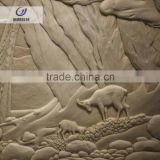 Indoor or outdoor application animal sculpture stone wall art