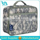 Stylish Designer Army Digital Camouflage Print Lunch Cooler Bag With Durable Hard Liner