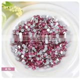 SS12 3.0mm Red Roseo flat rhinestone for crafts, diamante stone hot fix rhinestone for decoration