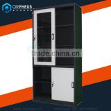 Orpheus Provide Stainless Steel Horizontal Filing Cabinet Folding Glass Display Cabinet cupboard Storage Cupboard Wardrobe
