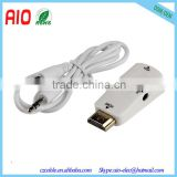 New Product HDMI Male To VGA Female Converter Box Adapter With Audio Cable For PC HDTV