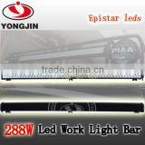 Top quality 288W led light bar 12 volt work lamp bright led 24v for SUV car accessories jeep wrangle