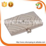 New Arrive clutch box frame beaded evening clutch bag for party