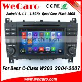 Wecaro WC-MB7508 Android 4.4.4 radio gps navigation 1024*600 car audio for benz w203 2004 - 2007 bluetooth