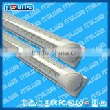v shape 22w Aluminum Alloy+PC double side intergration /single pin /G13 cooler led tube light