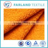 china supplier to provide 2015 new products orange color shu velveteen fabric for winter ugg boots