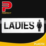Plastic self adhesive toilet sign plate