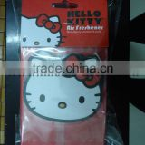 cheapest paper air freshener,hello kitty paper air freshener for car decoration &promotion gift