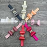 Shiny glitter kids handmade elastic baby hair accessories girls hair bow                                                                                                         Supplier's Choice