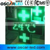 p16 led cross led sign temperature /date display