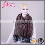 Christmas maxi women wholesale fashion fringe shawls infinity tassels blanket scarf in winter