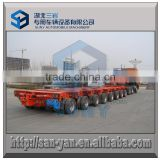 10 rows 250 T hydraulic modular axle low flatbed semi trailer, 10 multi axis low bed trailer