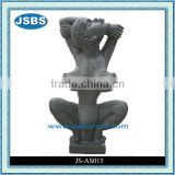 Naked Fat Lady Stone Sculpture