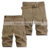 Feed belt men's Casual Pants Shorts XL five pants loose fat man pants pocket tooling tide