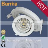 factory price 9 watts LED COB Downlight with high Flux, downlight with 360 degree rotatable