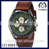 Men's Analog Display Quartz Brown Watch OEM logo WATCH WITH BROWN LEATHER STRAP JAPAN QUARTZ MOVEMENT