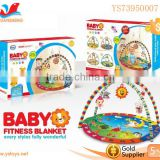 Lovely Colourful Plastic Baby Safety Fitness Frame with Baby Rattle Baby Play Gym Blanket