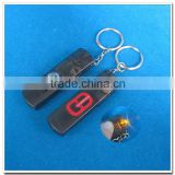 flashlight and compass whistle key finder keychain
