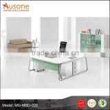 Low price wooden MFC L-shaped office table size