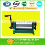 Beeswax foundation manual coining mill machine