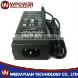 12V 4A DC Power supply adapter for powering LED strip lights UK plug with CE FCC SAA C-Tick RoHS UL certificates